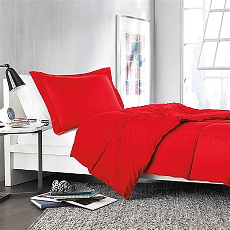 solid red comforter buy solid twin twin xl comforter set in red from bed bath