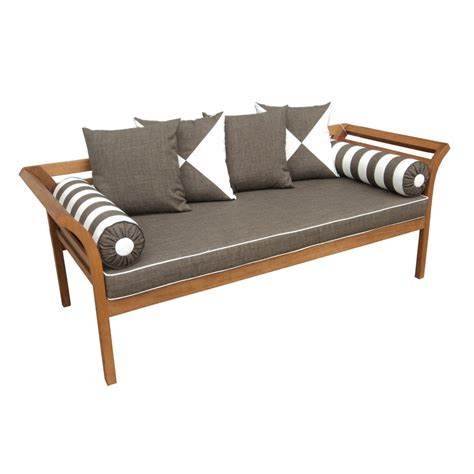 mimosa fresco cushioned timber daybed bunnings warehouse