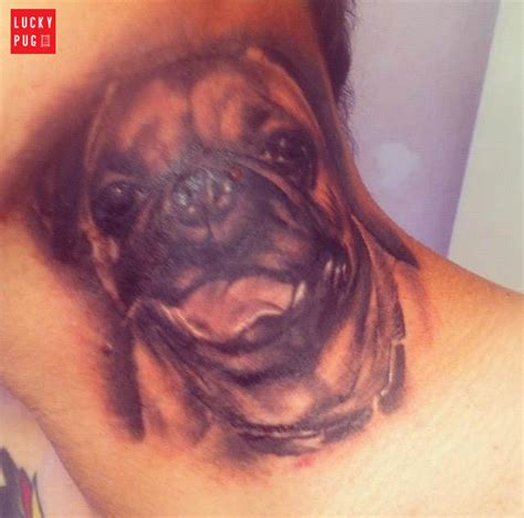 zombie tattoo norco neck pug tattoos pug photo gallery