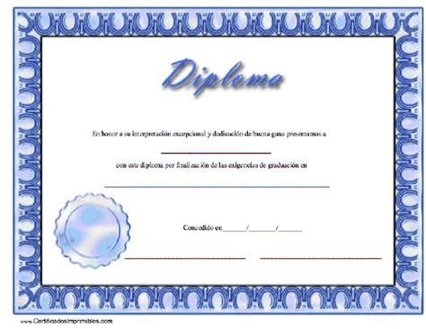 diplomas para imprimir s c diploma para imprimir los certificados gratis para