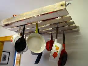 Kitchen Pot Rack Ideas by Home Improvements Pallet Pot Rack A Greenpoint Kitchen