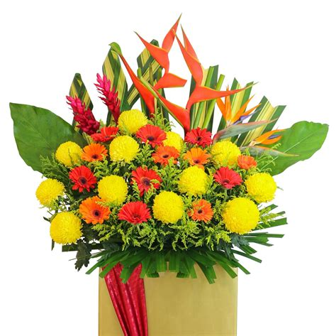 pagar 33cm by sun florist greatest of luck flower delivery singapore florist in