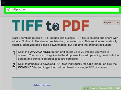 converter tiff to pdf how to convert tiff to pdf 15 steps with pictures wikihow