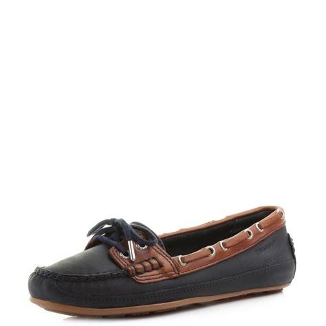 ebay boats shoes womens sebago bala mariner navy brown leather deck boat