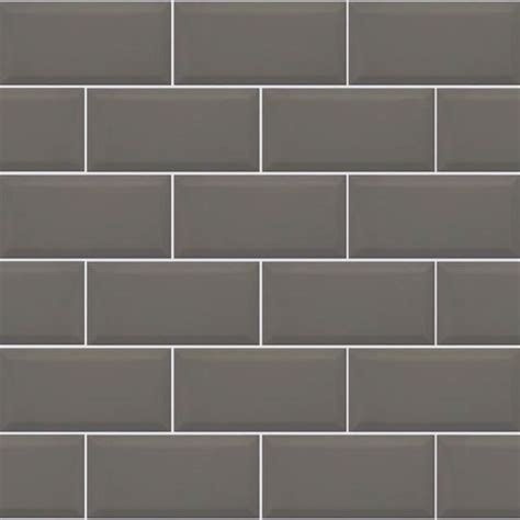 metro dark grey bevelled brick 10x20cm kitchen wall tile