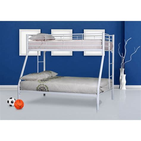 Colorado Trio Tubular Steel Bunk Bed In Gloss White Buy Tubular Bunk Bed