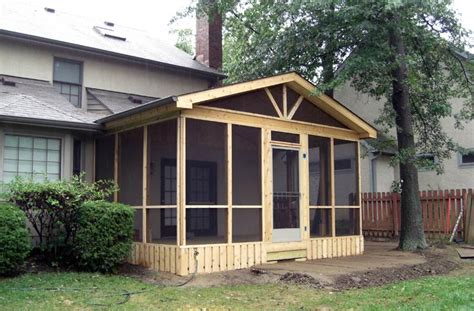 screen porch roof shedplan build wooden shed johnstown