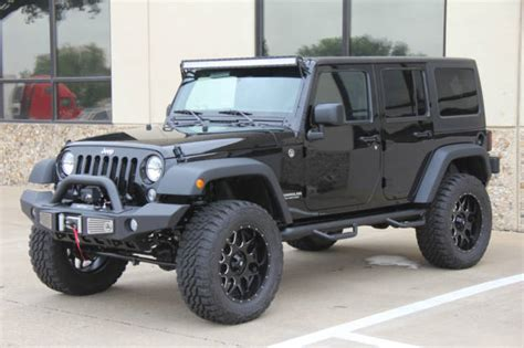 black lifted jeep 2015 black jeep wrangler 4 door lifted on 35s 8