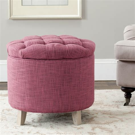 pink tufted ottoman avenue six curves tufted ottoman pink velvet home