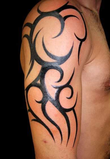 tribal sleeve tattoo for men half sleeve tribal tattoos for shortlist