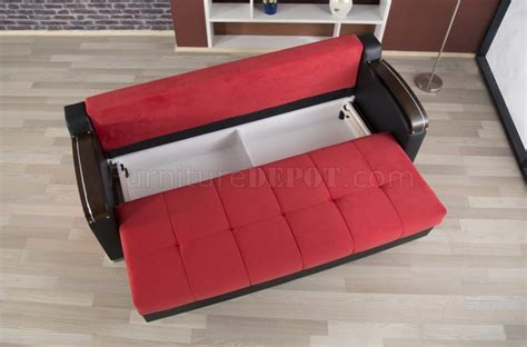 divan sofa bed divan deluxe sofa bed in red fabric by casamode w options
