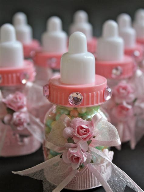 baby bottle centerpieces baby shower pink baby bottle favors 12 pcs by favorsboutique on etsy