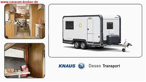 Wohnwagen Und Motorrad Transport by Knaus Deseo Transport Wohnwagen Caravan Motorrad