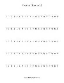 number line to 20 counting by 1 1