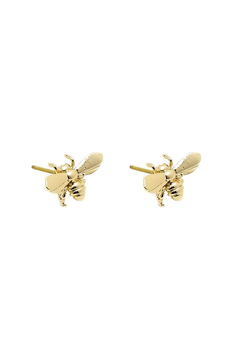 bee earrings gold from new york by nyc