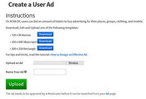 roblox ad template how to make ads roblox support