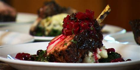 saskatoon berry glazed rack of pork recipes | food network