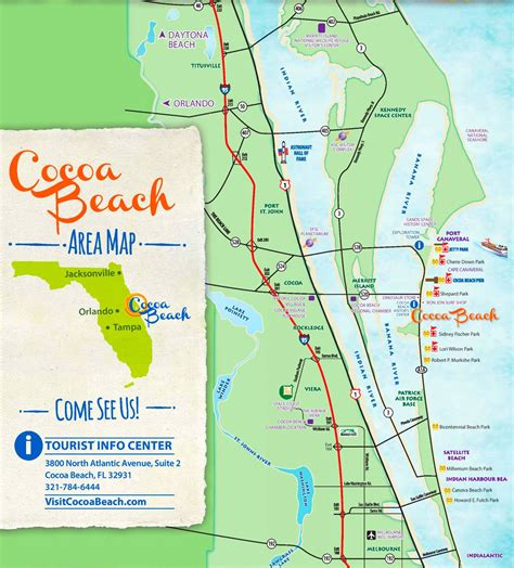 show cocoa beach  florida map wiring library