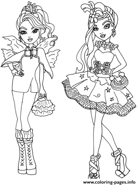 ever after high coloring pages that you can print faybelle thorn and duchess swan ever after high coloring