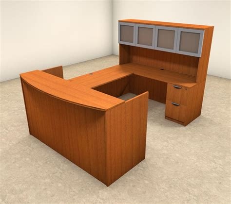 5pc u shaped modern office reception desk set ot sul r9