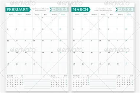 20 Beautiful Indesign Calendar Templates Design Freebies Indesign Calendar Template