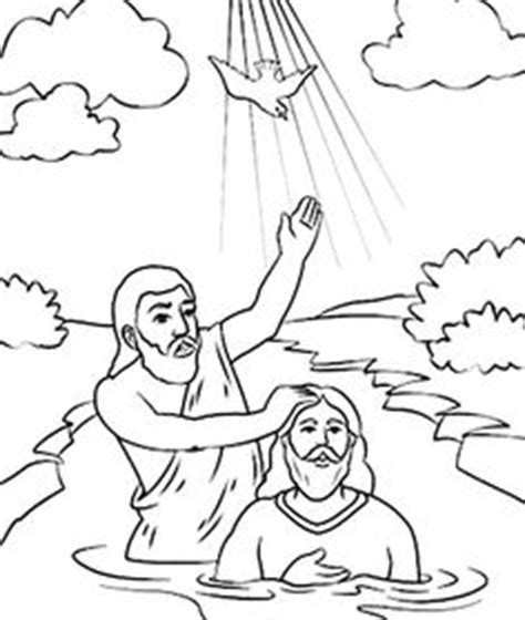 john the baptist baptism jesus coloring pages john the baptist for kids google search kids ministry