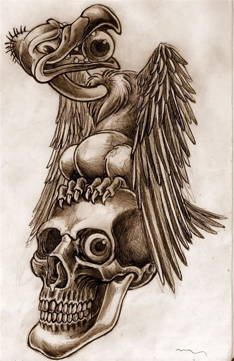 buzzard tattoo designs 10 vulture design ideas