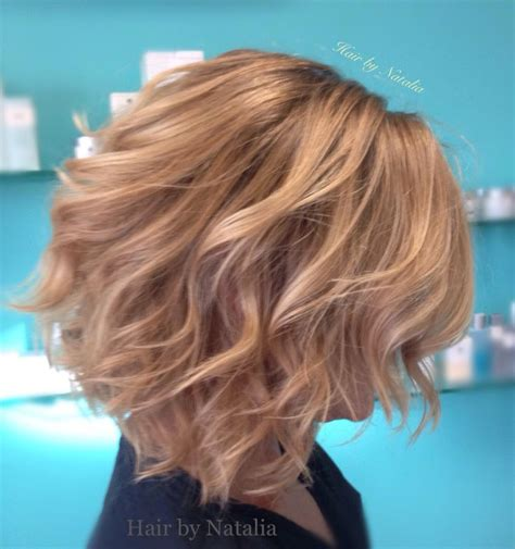 beachwave chin lenght bob blonde balayage bob balayage and messy beach waves for