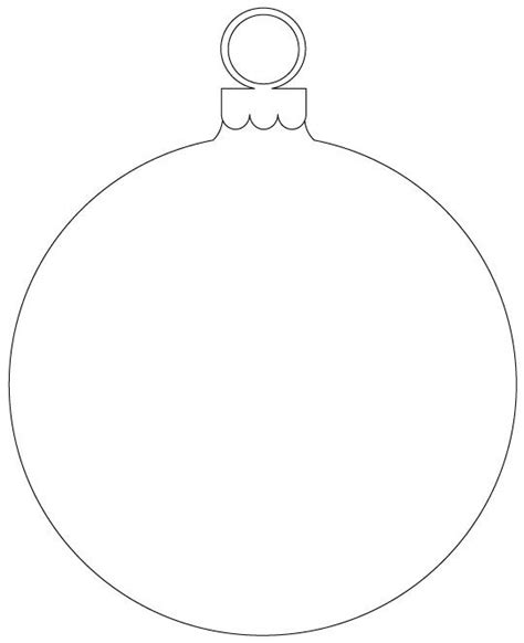 Printable Christmas Decoration Stencils Billingsblessingbags Org Bauble Template Printable