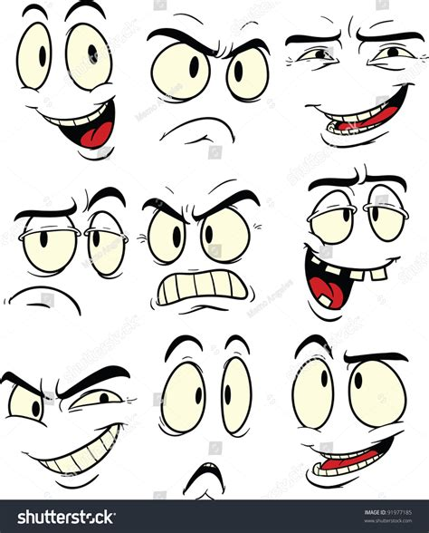 expression cartoons illustrations vector stock images cartoon facial expressions vector illustration each stock