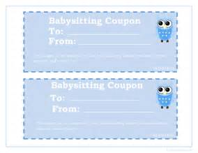 Babysitting Gift Voucher Template by 8 Best Images Of Printable Babysitting Voucher Template
