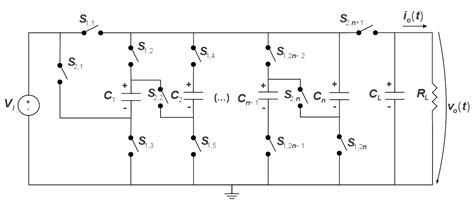 switched capacitor converter radiation step up dc dc converter