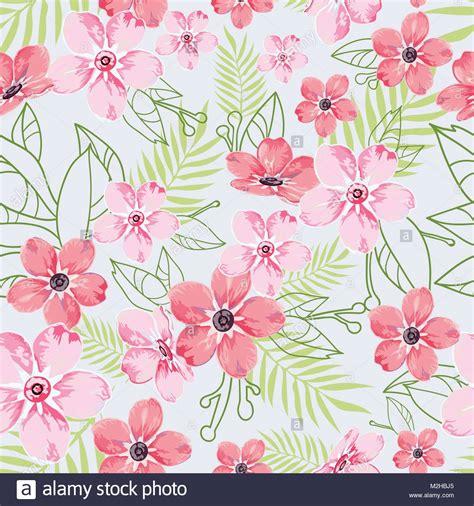 fiori di colore seamless motivo floreale sfondo azzurro con fiori di