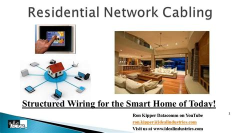 residential structured wiring systems part 1 why and how