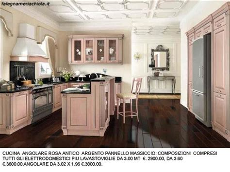 cucina rosa cucina angolare rosa antico n 178 c h falegnameria chiola