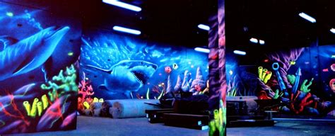 black light outdoor blacklight murals flying colors murals