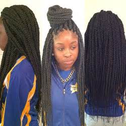 box plaits hairstyles medium size long box braids styled braids pinterest