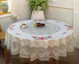 Tablecloth floral vinyl printed 60 inches round victoria s candle