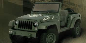 jeep 75th anniversary jeep wrangler concept celebrates 75 years of army jeeps