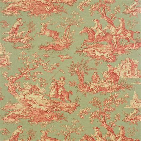 sanderson wallpaper classic collection stag hunting wallpaper fern rust ecru degtst103