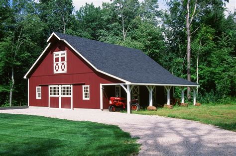 red barn plans lean to overhangs the barn yard great country garages