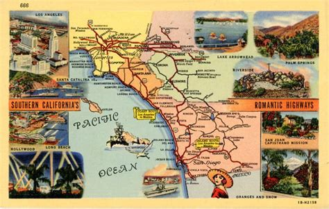 springs in southern california map 79 best images about vintage usa state map postcards on