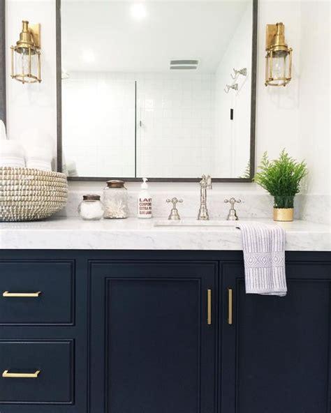 navy vanity navy vanity gold hardware marble vanity gold sconces