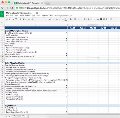 supplier kpi template marketplace kpi dashboard version one