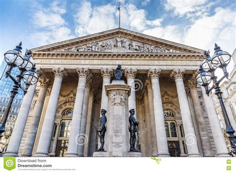 Banca Inghilterra by Banca Di Inghilterra Di Mattina Fotografia Stock
