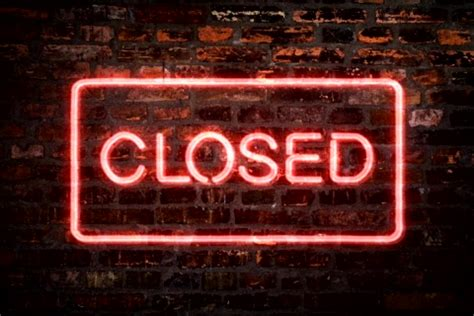 lights when closed neon sign closed store clip 793017 pond5