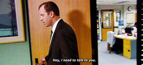 The Office Toby Returns by I Am Toby Whenever I Try To Talk To The I Follow P