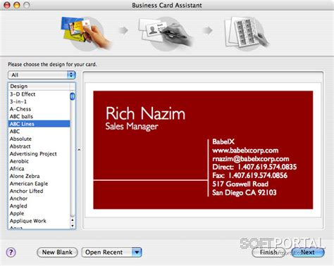 Business Card Composer For Windows
