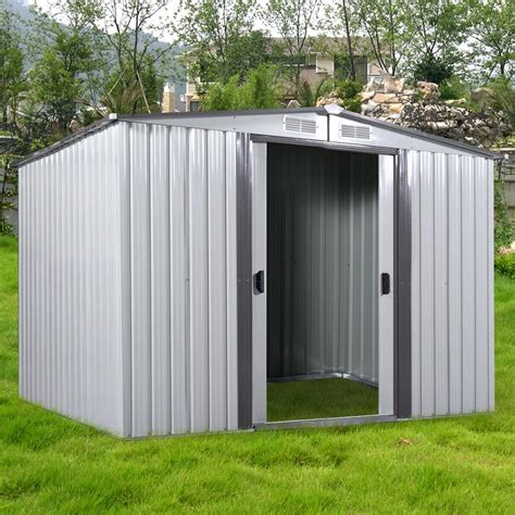 ft outdoor storage shed steel garden utility