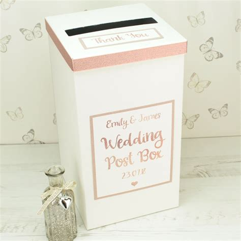 Wedding Box Photo by Personalised Gold Wedding Post Box Gettingpersonal